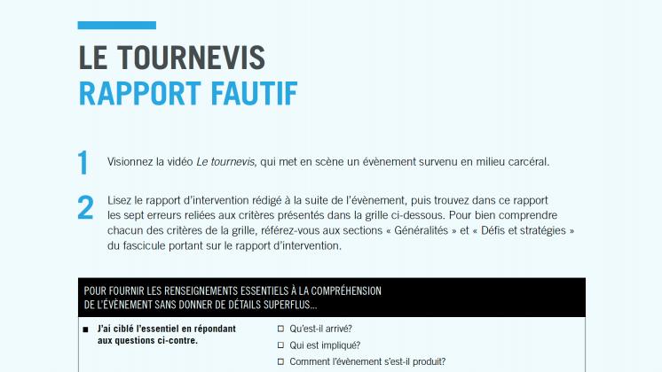 Document : Le tournevis – Rapport fautif
